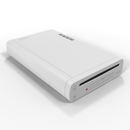 Nintendo Wii U Set White. Render 20