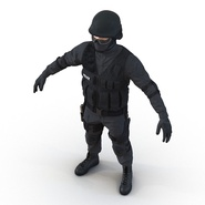 SWAT Man Mediterranean Rigged for Cinema 4D. Preview 19