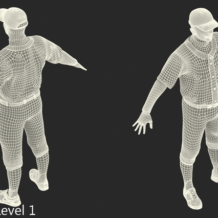 Baseball Player Rigged Athletics for Cinema 4D. Render 22