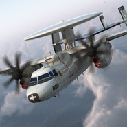 Grumman E-2 Hawkeye Tactical Early Warning Aircraft Rigged. Preview 9