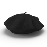 Wool Classic Beret Hat. Preview 3