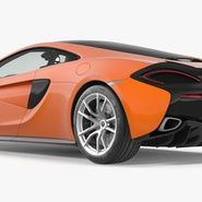 Sports Car McLaren 570GT 2017 Simple Interior. Preview 5