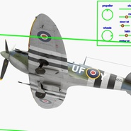 Royal Air Force Fighter Supermarine Spitfire LF Mk IX Rigged. Preview 20