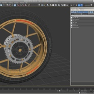 Sport Motorcycle Back Wheel. Preview 15