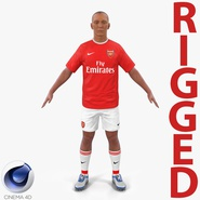 Soccer Player Arsenal Rigged 2 for Cinema 4D