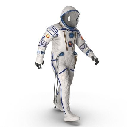 Russian Space Suit Sokol KV2 Rigged. Render 19