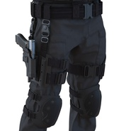 SWAT Man Mediterranean Rigged for Cinema 4D. Preview 38