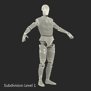 Male Crash Test Dummy Rigged for Cinema 4D. Preview 41