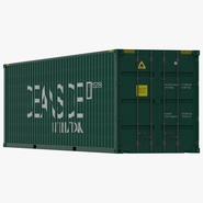 40 ft High Cube Container Green. Preview 1