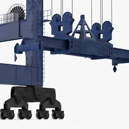 Container Crane Blue. Render 31