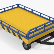 Airport Transport Trailer Low Bed Platform with Container Rigged. Preview 14