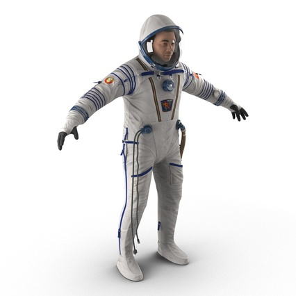 Russian Astronaut Wearing Space Suit Sokol KV2 Rigged for Maya. Render 7