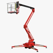 Telescopic Boom Lift Red