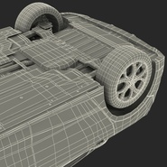 Generic Hybrid Car Rigged. Preview 90