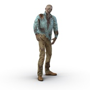 Zombie Rigged for Cinema 4D. Preview 5