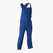 Blue Workwear Overalls. Preview 3