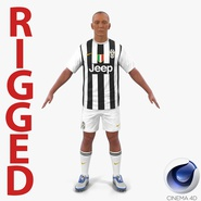Soccer Player Juventus Rigged 2 for Cinema 4D