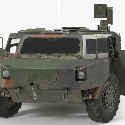 Fennek German Reconnaissance Vehicle Rigged. Render 9