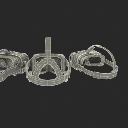 Virtual Reality Goggles Collection. Render 99