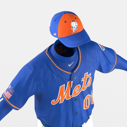 Baseball Player Outfit Mets 2. Render 25