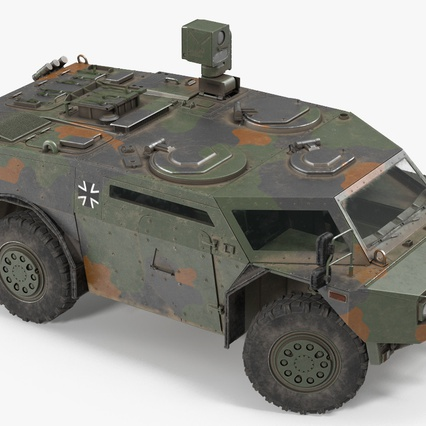 Fennek German Reconnaissance Vehicle Rigged. Render 14