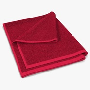 Towel 4 Red with Fur
