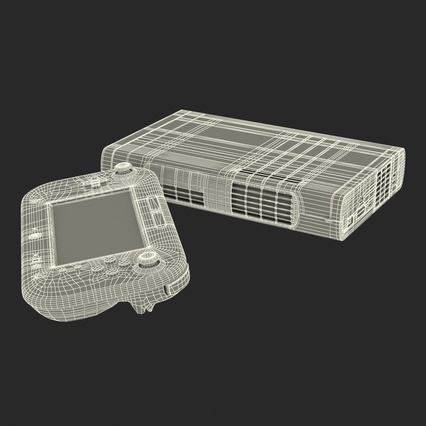 Nintendo Wii U Set White. Render 58