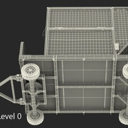 Airport Luggage Trolley with Container Rigged. Preview 26