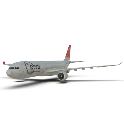 Jet Airliner Airbus A330-300 Northwest Airlines Rigged. Render 29