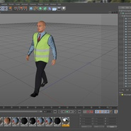 Port Engineer Walking Pose. Preview 21
