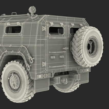 Russian Mobility Vehicle GAZ Tigr M Rigged. Render 88