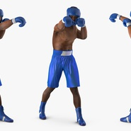African American Boxer Rigged for Cinema 4D. Preview 12