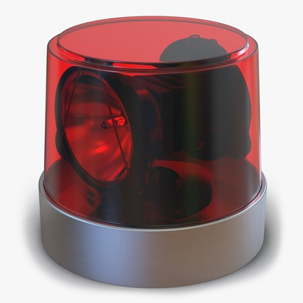 Warning Light Red. Render 1