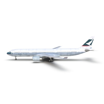 Jet Airliner Airbus A330-300 Cathay Pacific Rigged. Render 3