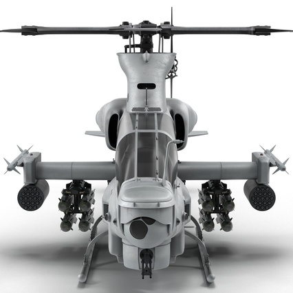 Attack Helicopter Bell AH 1Z Viper Rigged. Render 17
