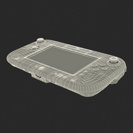 Nintendo Wii U Set White. Render 65