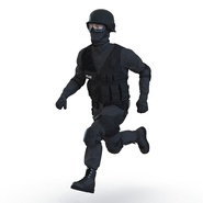 SWAT Man Mediterranean Rigged for Cinema 4D. Preview 8