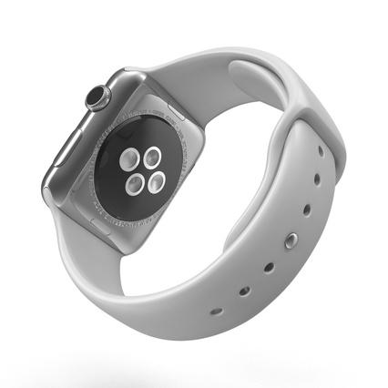Apple Watch Sport Band White Fluoroelastomer 2. Render 7
