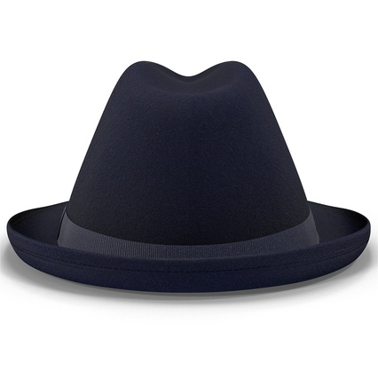 Fedora Hat Blue. Render 8