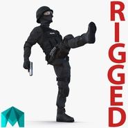 SWAT Man Mediterranean Rigged for Maya. Preview 1