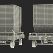Airport Transport Trailer Low Bed Platform with Container Rigged. Preview 32