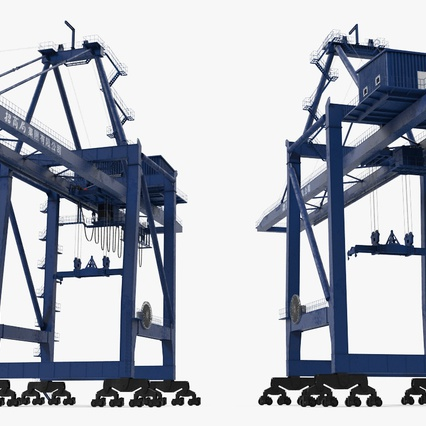 Container Crane Blue. Render 8