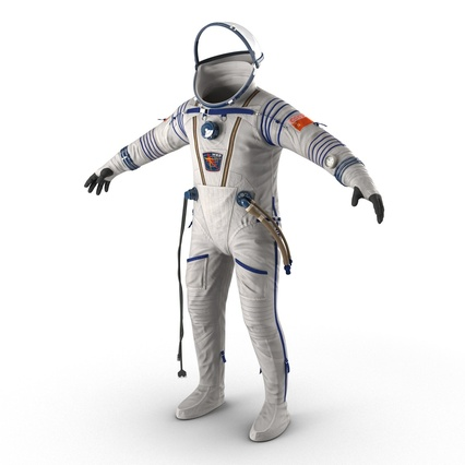 Russian Space Suit Sokol KV2 Rigged. Render 17
