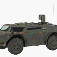 Fennek German Reconnaissance Vehicle Rigged. Preview 3