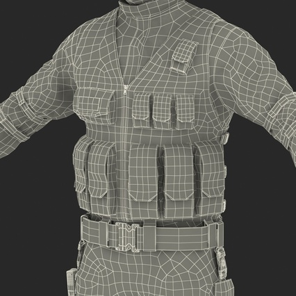 SWAT Man Mediterranean Rigged for Maya. Render 56