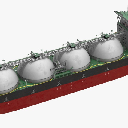Gas Carrier Ship. Render 13