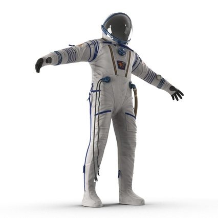 Russian Space Suit Sokol KV2 Rigged. Render 21