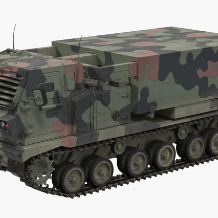 US Multiple Rocket Launcher M270 MLRS Camo. Render 3