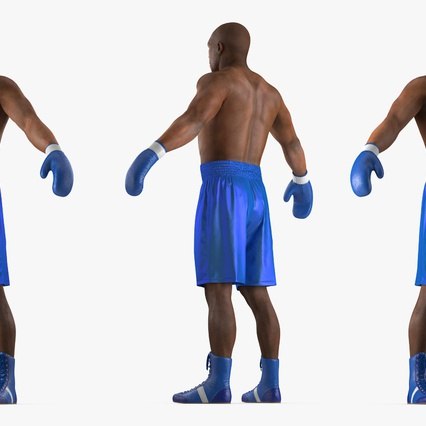African American Boxer Rigged for Cinema 4D. Render 11