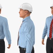 Construction Engineer in Hardhat Standing Pose. Preview 9